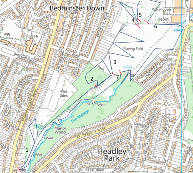 Map of 2019 Butterfly Survey in Manor Woods Valley